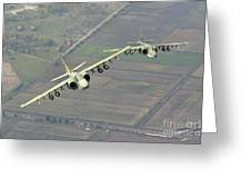 A Pair Of Bulgarian Air Force Sukhoi Greeting Card