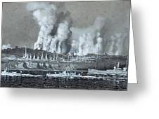 A Pair Of Industrial River Greeting Card