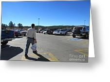 A Parking Area Greeting Card