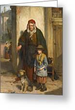 A Poor Beggar Bodie Greeting Card