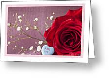 A Rose For Valentine's Day - 2 Greeting Card