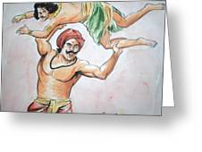 A Scene From Mahabharata Greeting Card by Tanmay Singh