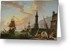 A Seaport Greeting Card