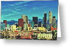 A Slice Of Los Angeles Greeting Card