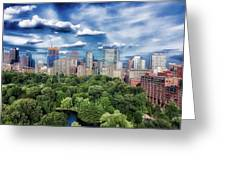 A Summer Day In Boston Greeting Card