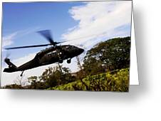A U.s. Army Uh-60 Black Hawk Helicopter Greeting Card