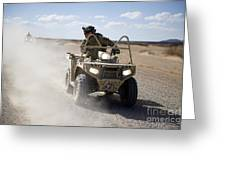 A U.s. Soldier Performs Off-road Greeting Card