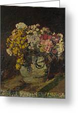A Vase Of Wild Flowers Greeting Card