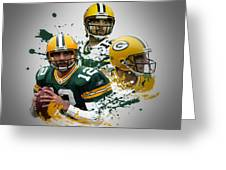 Aaron Rodgers Packers Greeting Card