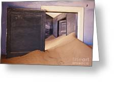 Abandoned House Filled With Drifting Sand Greeting Card