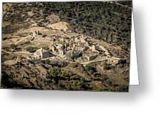 Abandoned Village Of Occi And The Coast Of Corsica Greeting Card