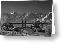 Abandoned Wagon In The High Sierra Nevada Mountains Greeting Card