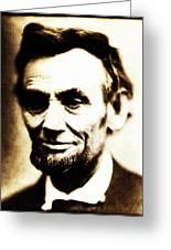 Abe Greeting Card