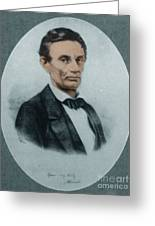 Abraham Lincoln, 16th American President Greeting Card by Science Source