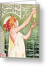 Absinthe Robette Greeting Card