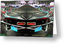 Abstract Black Car Greeting Card