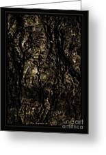 Abstract Gold And Black Texture Greeting Card