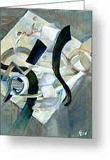 Abstract In Gray Greeting Card