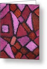 Abstract In Pink Greeting Card