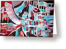 Abstract Marina Greeting Card