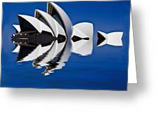 Abstract Of Sydney Opera House Greeting Card