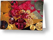 Abstract Painting - Antique Brass Greeting Card