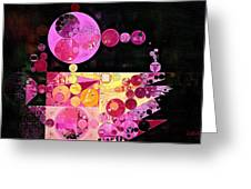 Abstract Painting - Mauvelous Greeting Card