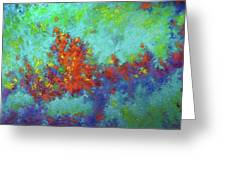 Abstract Pallet Oil Color Greeting Card
