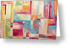 Abstract Pop Art Style Unique Pastel Painting Contemporary Art By Megan Duncanson Greeting Card