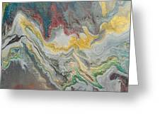 Abstract Pour Greeting Card by Sonya Wilson