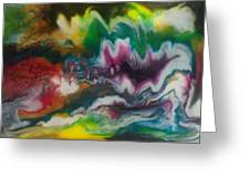 Abstract Resin Pour Greeting Card