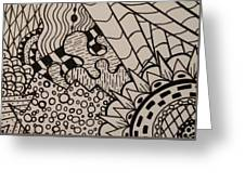 Aceo Zentangle Abstract Design Greeting Card