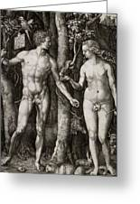 Adam And Eve 1504  Greeting Card