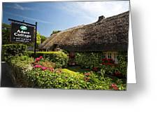Adare Thatch Roof Cottages Ireland Greeting Card
