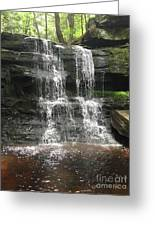 Aden Hill Waterfall Greeting Card