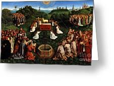 Adoration Of The Mystic Lamb Greeting Card