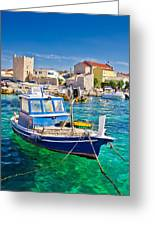 Adriatic Town Of Razanac Colorful Waterfront Greeting Card