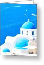 Aegean Blue Greeting Card