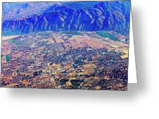 Aerial Usa. Los Angeles, California Greeting Card