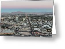Aerial View Of Las Vegas City Greeting Card