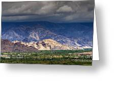 Aerial View Of Leh City Landscape Ladakh Jammu And Kashmir India Greeting Card