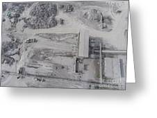 Aerial View Of Open Pit Sand Quarries.  View From Above.  Greeting Card