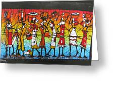 African Woman Carrying On Head Greeting Card