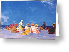 afternoon fun Edward Henry Potthast Greeting Card