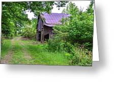 Aging Barn In Woods Series Greeting Card