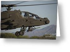 Ah-64d Apache Longbow Lifts Greeting Card