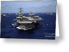 Aircraft Carrier Uss Ronald Reagan Greeting Card