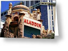 Aladdin Hotel Casino Greeting Card
