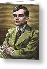 Alan Turing, British Mathematician Greeting Card by Bill Sanderson
