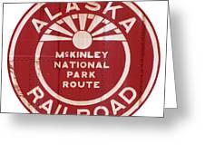 Alaska Railroad Aged Greeting Card